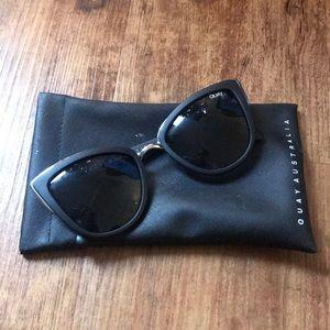 Quay Cat Eye Black Sunglasses